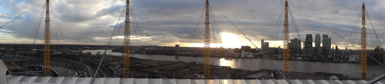 Panoramic view from the O2