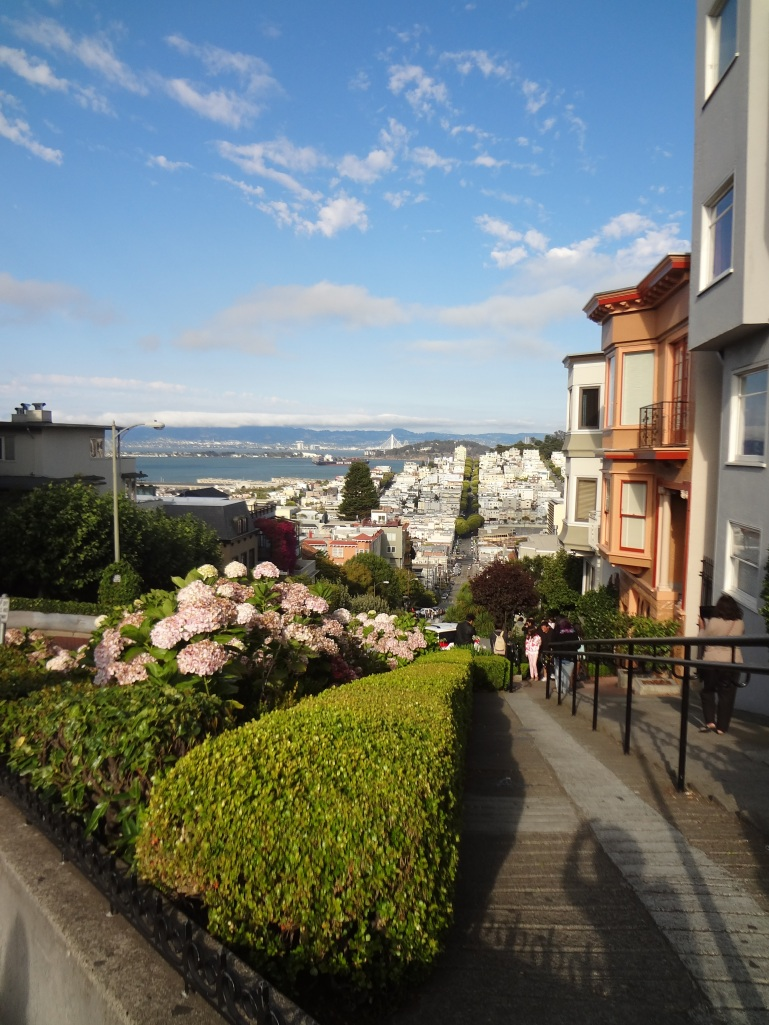 Top of Lombard Street in San Francisco, California
